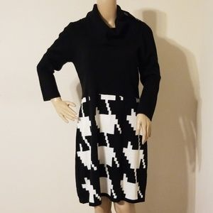 Sandra Darren Cowl-Neck Sweater Dress